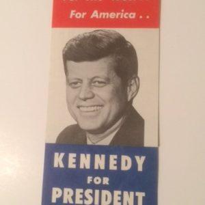 For the West For America JFK for President brochure