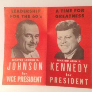 1960 Kennedy Johnson Red Brochure