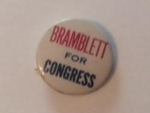 Bramblett for Congress California Pinback1940s