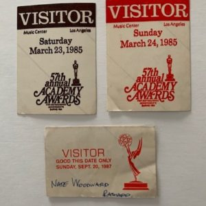 Academy Awards Visitor passes 3
